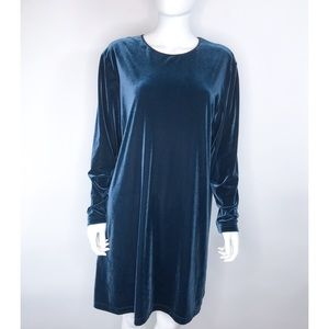 J. Jill Teal Velour Tunic Top